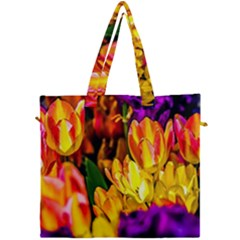 Fancy Tulip Flowers In Spring Canvas Travel Bag