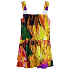 Fancy Tulip Flowers In Spring Kids  Layered Skirt Swimsuit