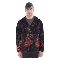Floral Fireworks Hooded Windbreaker (men) by FunnyCow