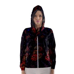 Floral Fireworks Hooded Windbreaker (women) by FunnyCow