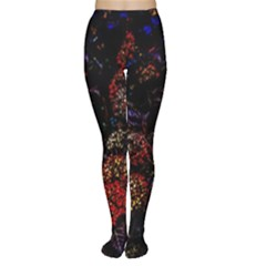 Floral Fireworks Tights by FunnyCow