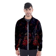 Floral Fireworks Windbreaker (men) by FunnyCow