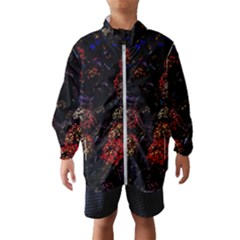 Floral Fireworks Windbreaker (kids) by FunnyCow