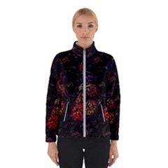 Floral Fireworks Winter Jacket by FunnyCow