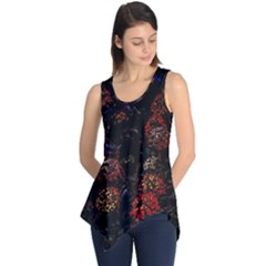 Floral Fireworks Sleeveless Tunic by FunnyCow