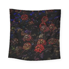 Floral Fireworks Square Tapestry (small) by FunnyCow