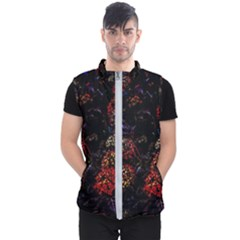 Floral Fireworks Men s Puffer Vest by FunnyCow