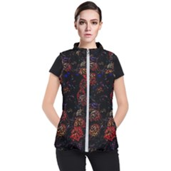Floral Fireworks Women s Puffer Vest by FunnyCow