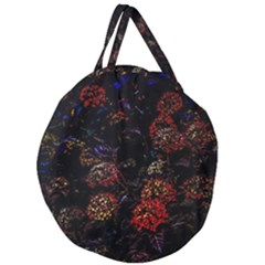 Floral Fireworks Giant Round Zipper Tote by FunnyCow