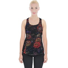 Floral Fireworks Piece Up Tank Top by FunnyCow