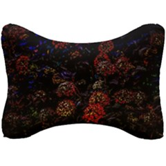 Floral Fireworks Seat Head Rest Cushion by FunnyCow