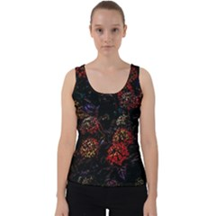 Floral Fireworks Velvet Tank Top by FunnyCow