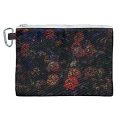 Floral Fireworks Canvas Cosmetic Bag (xl) by FunnyCow