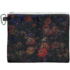 Floral Fireworks Canvas Cosmetic Bag (xxxl) by FunnyCow