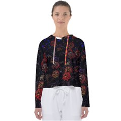 Floral Fireworks Women s Slouchy Sweat by FunnyCow