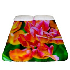 Blushing Tulip Flowers Fitted Sheet (california King Size)