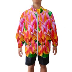 Blushing Tulip Flowers Windbreaker (kids)