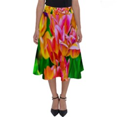 Blushing Tulip Flowers Perfect Length Midi Skirt by FunnyCow