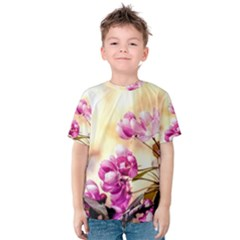 Paradise Apple Blossoms Kids  Cotton Tee by FunnyCow
