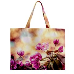 Paradise Apple Blossoms Zipper Mini Tote Bag by FunnyCow