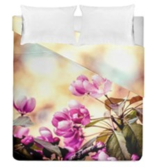 Paradise Apple Blossoms Duvet Cover Double Side (queen Size)