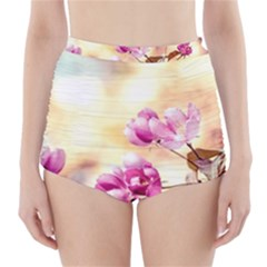 Paradise Apple Blossoms High Waisted Bikini Bottoms