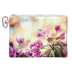 Paradise Apple Blossoms Canvas Cosmetic Bag (xl)