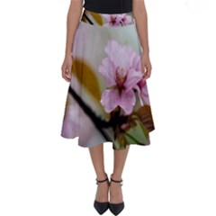 Soft Rains Of Spring Perfect Length Midi Skirt by FunnyCow