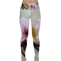 Soft Rains Of Spring Lightweight Velour Classic Yoga Leggings