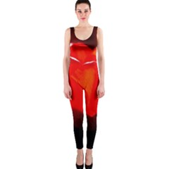 Red Tulip A Bowl Of Fire One Piece Catsuit