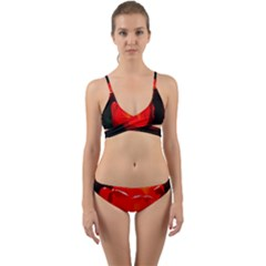 Red Tulip A Bowl Of Fire Wrap Around Bikini Set
