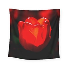 Red Tulip A Bowl Of Fire Square Tapestry (small)