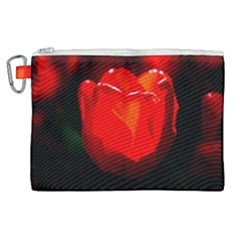 Red Tulip A Bowl Of Fire Canvas Cosmetic Bag (xl) by FunnyCow