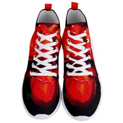 Red Tulip A Bowl Of Fire Men s Lightweight High Top Sneakers