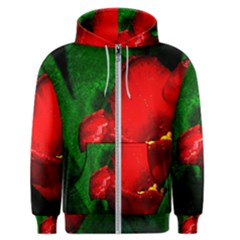 Red Tulip After The Shower Men s Zipper Hoodie by FunnyCow