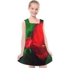 Red Tulip After The Shower Kids  Cross Back Dress