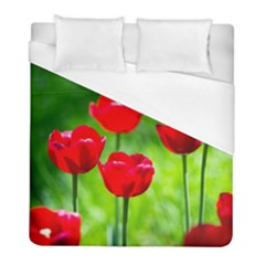 Red Tulip Flowers, Sunny Day Duvet Cover (full/ Double Size) by FunnyCow