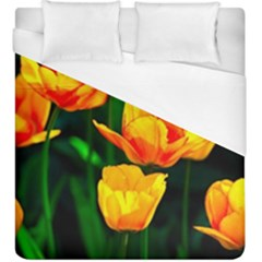 Yellow Orange Tulip Flowers Duvet Cover (king Size)