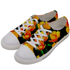 Yellow Orange Tulip Flowers Women s Low Top Canvas Sneakers by FunnyCow