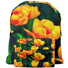 Yellow Orange Tulip Flowers Giant Full Print Backpack by FunnyCow