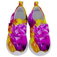 Violet Tulip Flowers Velcro Strap Shoes
