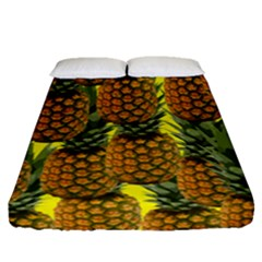 Tropical Pineapple Fitted Sheet (queen Size)