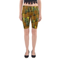 Tropical Pineapple Yoga Cropped Leggings