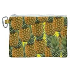 Tropical Pineapple Canvas Cosmetic Bag (xl)