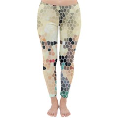 Stained Glass Girl Classic Winter Leggings by snowwhitegirl