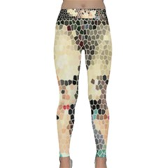 Stained Glass Girl Classic Yoga Leggings