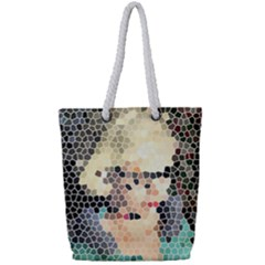 Stained Glass Girl Full Print Rope Handle Tote (small)