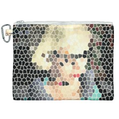 Stained Glass Girl Canvas Cosmetic Bag (xxl) by snowwhitegirl