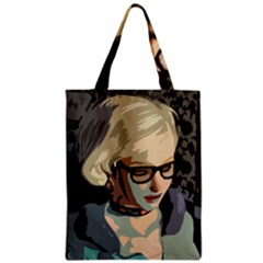 Girl Thinking Zipper Classic Tote Bag