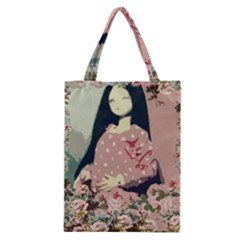 Rose Floral Doll Classic Tote Bag by snowwhitegirl